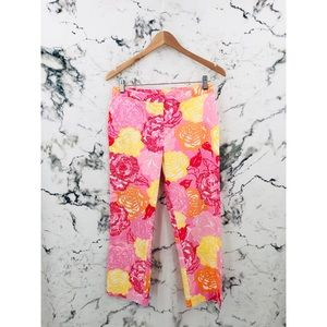 Lilly Pulitzer Cropped Floral Straight Leg Pants